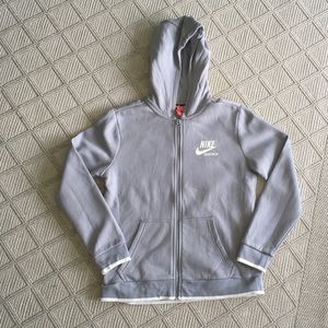 Boys Nike zippered hoodie